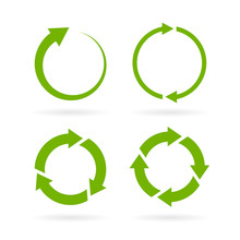 360 Degree Complete Cycle Vector Arrow