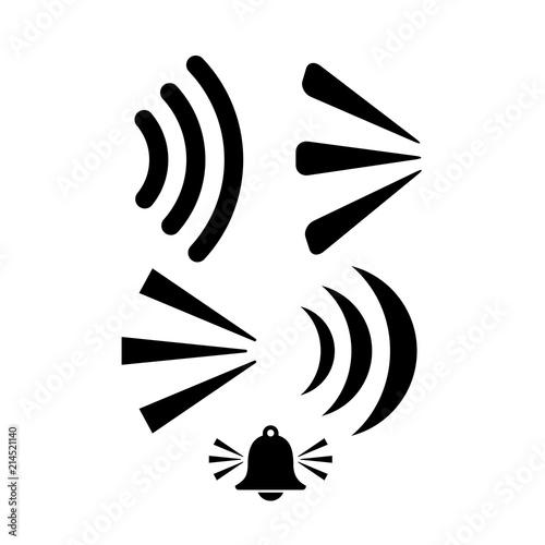 Fotografie, Obraz  Sound wave vector icon set