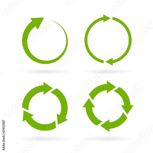Tablou Canvas 360 degree complete cycle vector arrow
