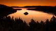 Leinwandbild Motiv Lake Tahoe West shore view in the sunrise overlooking Fannette Island and Emerald Bay