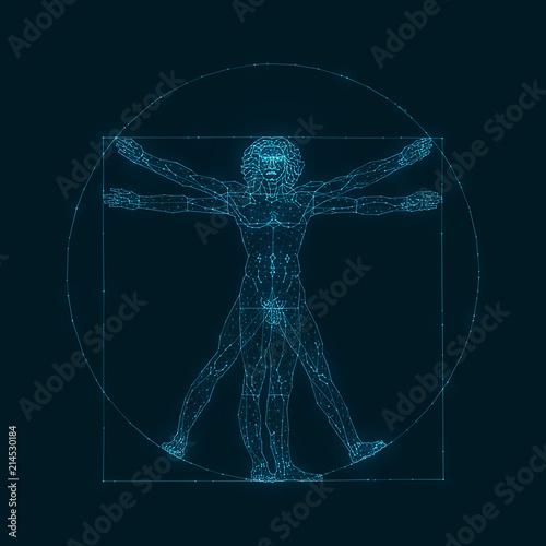Fotografie, Obraz  The Viturvial Man - Wire Concept
