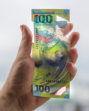 Commemorative 100 Rubles In Honor Of The World Cup In Russia.