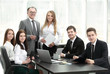 senior businessman had a working meeting with business team