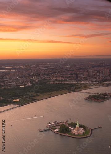 Liberty Island Sunset