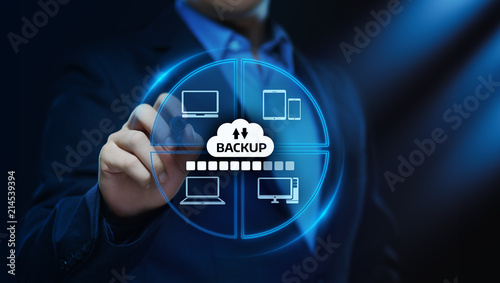 Obraz na plátně Backup Storage Data Internet Technology Business concept