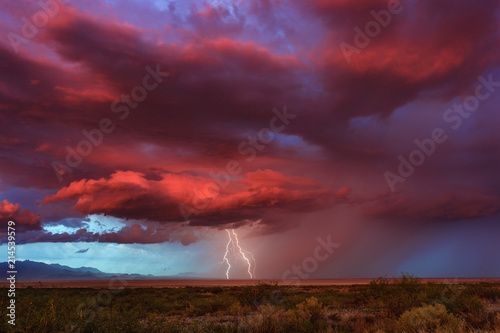 Canvas Prints Bordeaux Thunderstorm at sunset