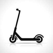 Vector Scooter Icon Design On ...