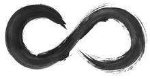 Grunge Infinity Symbol. Waterc...
