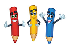 3 Cartoon Character Crayons: R...