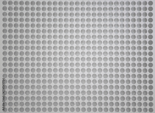Tablou Canvas Perforated Holes White Metal Background