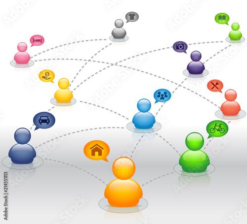 Fotografía Sharing Economy Collaborative Global Connection Share