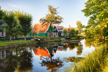 Traditional House At The Historic Village Of Zaanse Schans, Netherlands