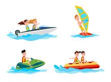 Sea Water Activities Of Summer...