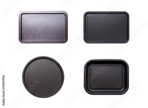 Empty baking tray isolated.