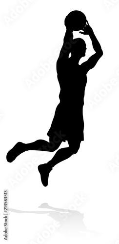 Photo  Silhouette Basketball Player