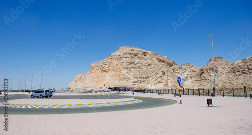 View from the top of Jabel Hafeet mountain - UAE. Wallpaper Mural