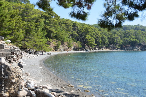 Foto op Plexiglas Caraïben Turkey: beach next to ancient city of Phaselis
