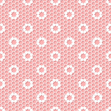 Vintage Polka Dot Small Flower Lace Seamless Texture