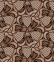 Seamless Black Flower Lace Pattern, Retro Lace Texture