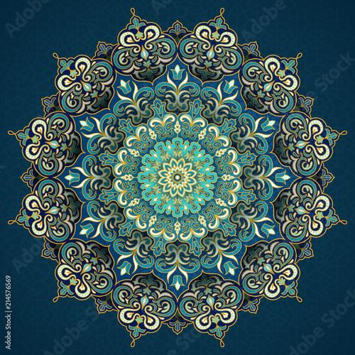 Valokuvatapetti Exquisite arabesque pattern