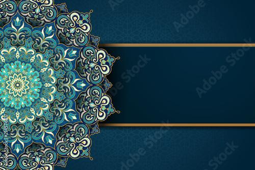 Exquisite arabesque card Canvas Print