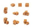 Scottish whisky fudge candy isolated
