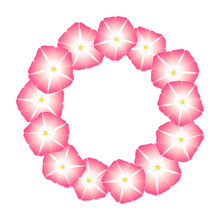 Pink Morning Glory Flower Wreath