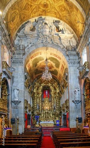 Inside Carmo Church in Porto, Portugal