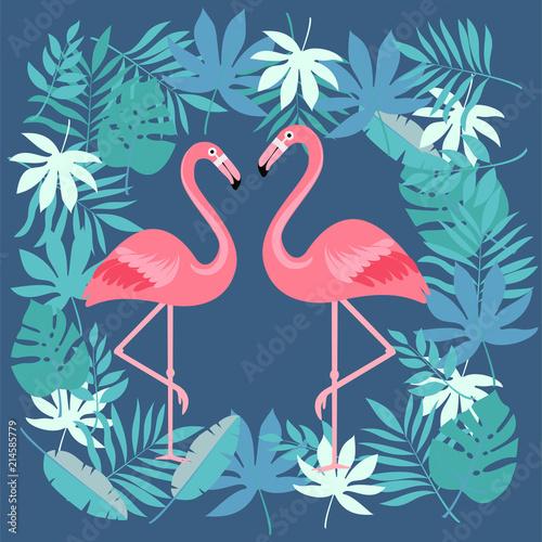 Cartoon flamingo bird. vector illustration © Rusakovich