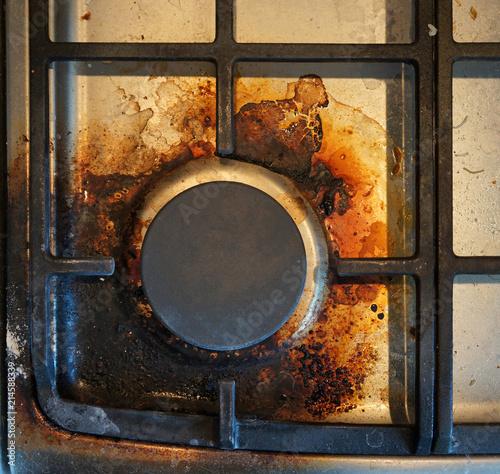 Obraz dirty gas stove - fototapety do salonu
