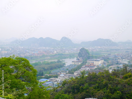 Foto op Canvas Guilin 桂林の街並み