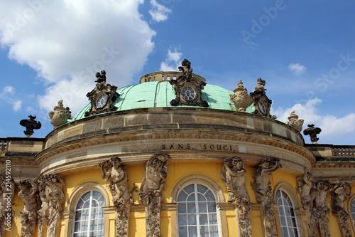 Fotografie, Obraz  Die Schlossanlage Sanssouci in Potsdam.