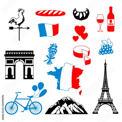 In de dag Doodle France background design.