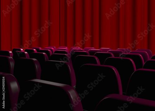 Printed kitchen splashbacks Theater Cinema - Looking a Movie - 3D