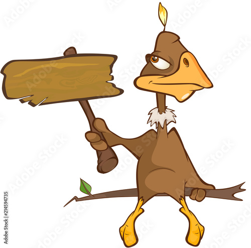 Foto op Plexiglas Babykamer Illustration of a Cute American Condor Cartoon Character