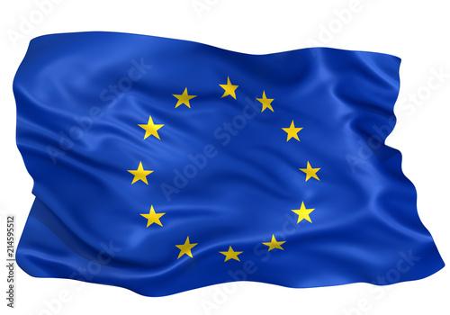Fotografie, Obraz  EU連合国旗