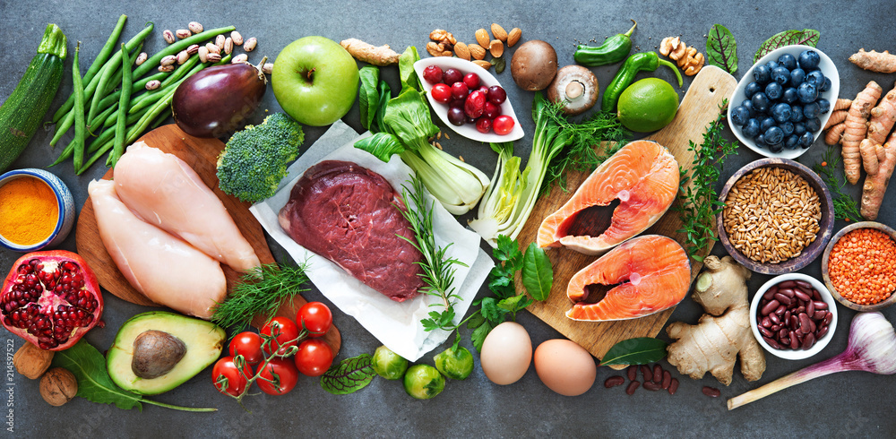 Fototapeta Balanced diet food background