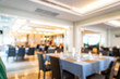canvas print picture - abstract blur and defocused hotel restaurant for background