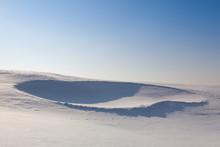 Golf Bunker Full Of Snow