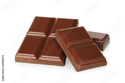 Foto op Aluminium Snoepjes Broken chocolate bars