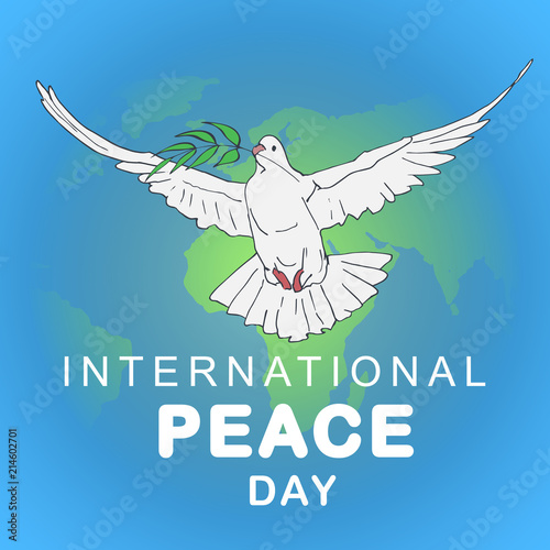 International Peace Day concept Poster