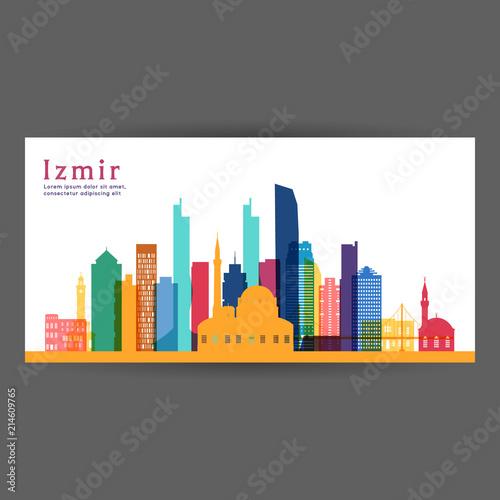 Izmir Colorful Architecture Vector Illustration Skyline City Silhouette Skyscraper Flat Design Buy This Stock Vector And Explore Similar Vectors At Adobe Stock Adobe Stock
