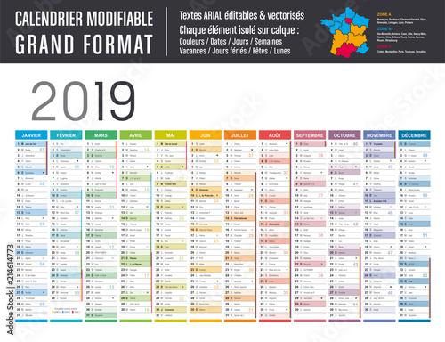 Achat Calendrier 2019.Calendrier 2019 Modifiable Grand Format Acheter Ce