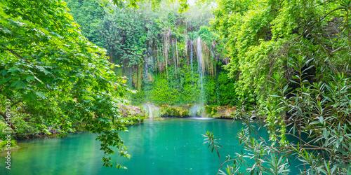 Poster Turquie Kursunlu waterfall in forest, Aksu, Turkey