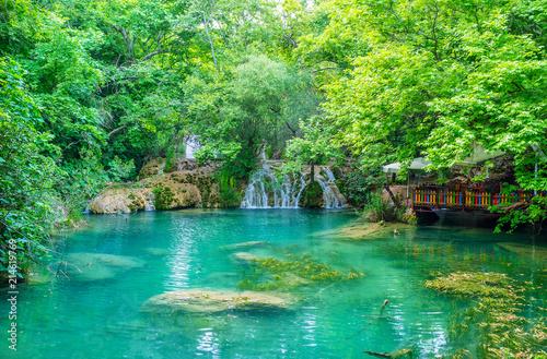 Obraz na plátně  Picnic in Kursunlu nature park, Aksu, Turkey
