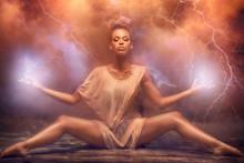 Beautiful Afro Girl Dancer Ove...