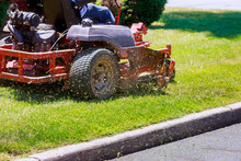 Process Of Lawn Mowing, Concep...