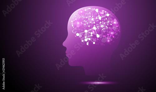 Fototapeta testa, sinapsi, intelligenza, luci, luce,  obraz