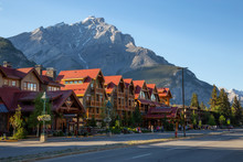 Banff, Alberta, Canada - June 17, 2018: Beautiful View Of Banff City During A Vibrant Summer Day.