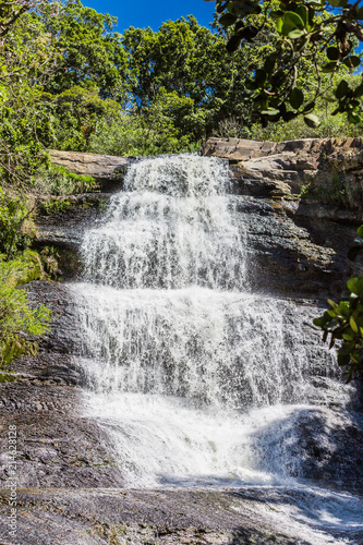 Staande foto Zuid-Amerika land La Periquera waterfalls of Villa de Leyva Boyaca in Colombia South America